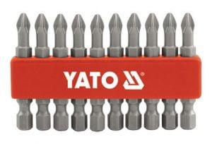Długie YATO YT-0477 GROTY DO WKRĘTARKI PH1 50MM ZESTAW 10-SZTUKOWY 10-sztukowy