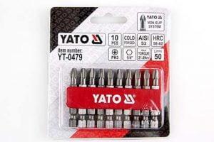 Długie YATO YT-0478 GROTY DO WKRĘTARKI PH2 50MM ZESTAW 10-SZTUKOWY 10-sztukowy