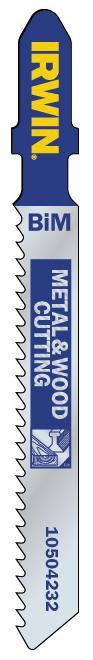 Do Drewna i Metalu IRWIN I-10504232 BRZESZCZOT DO DREWNA I METALU DO WYRZYNARKI 5SZTUK TYP T345F 5sztuk