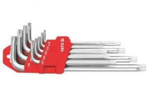 Komplety YATO YT-0512 KLUCZE TORX T10-T50 DŁUGIE ZESTAW 9-CZĘŚCIOWY 9-czesciowy