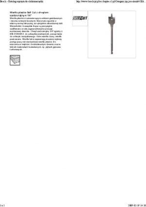 Łopatkowe BOSCH 2608595410 WIERTŁO ŁOPATKOWE SELF CUT LONG 20x400MM 20x400mm