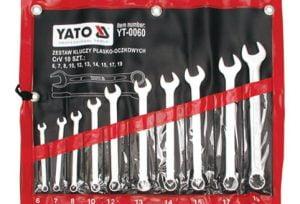 Komplety Kluczy Płaskich YATO YT-0060 KOMPLET KLUCZY PŁASKO-OCZKOWYCH 10-CZĘŚCIOWY 6-19MM 10-czesciowy