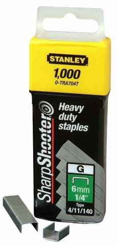 Zszywki STANLEY TRA709T1 ZSZYWKA TYP G HD 1.000 SZTUK 14MM 1,4mm