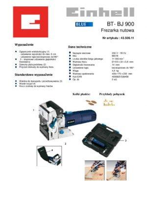 Do Lameli EINHELL EI-43-506-11 FREZARKA NUTOWA BT-BJ 900 bt-bj