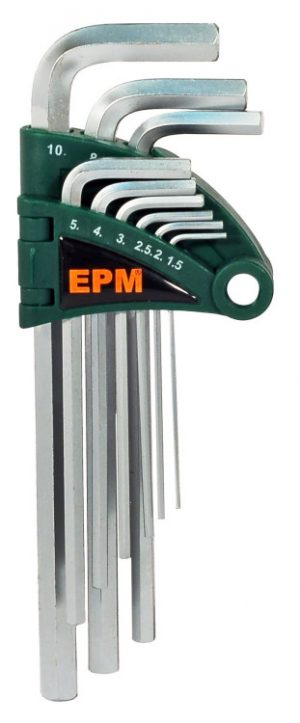 "Komplety EPM E-400-2560 KOMPLET KLUCZY IMBUSOWY ""HEX"" TYP L 9SZT ŚREDNIE ""hex"""