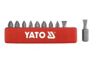 Zestawy YATO YT-0482 GROTY DO WKRĘTARKI 25MM KOMPLET 10-SZTUKOWY 10-sztukowy