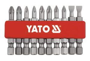 Długie YATO YT-0483 GROTY DO WKRĘTARKI 50MM ZESTAW 10-SZTUKOWY 10-sztukowy