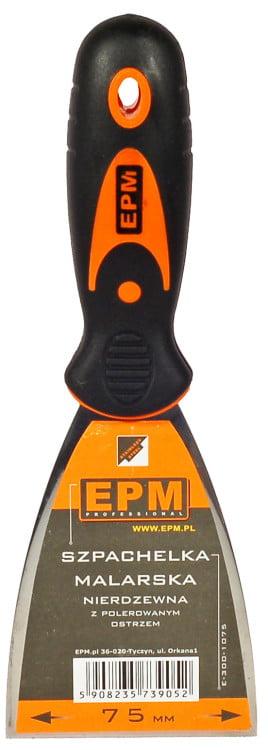 Nierdzewne EPM E-300-1075 SZPACHELKA MALARSKA NIERDZEWNA 75MM 7,5mm