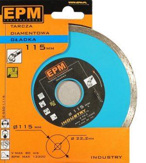 Gładkie EPM E-550-1125 TARCZA DIAMENTOWA GŁADKA 125MM 125mm