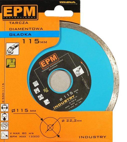 Gładkie EPM E-550-1200 TARCZA DIAMENTOWA GŁADKA 200MM 20,0mm