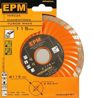 Turbo EPM E-550-3115 TARCZA DIAMENTOWA TURBO WAVE 115MM 11,5mm