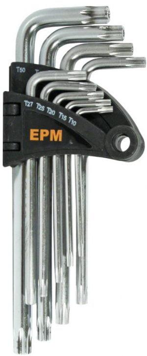 Komplety EPM E-400-2660 KOMPLET KLUCZY TORX TYP L T10-T50 9SZT. ŚREDNIE 9szt