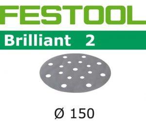 Samoprzyczepne FESTOOL FE 496592 KRĄŻEK PRZYCZEPNY 150MM STF BRILLIANT2 GRANULACJA 220 1,50mm
