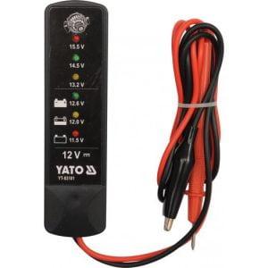 Pomiarowe YATO YT-83101 SAMOCHODOWY MIERNIK NAPIĘCIA 12V miernik