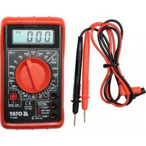 Pomiarowe YATO YT-73080 MIERNIK CYFROWY UNIWERSALNY BUZER buzer