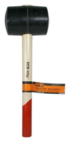 Z Trzonkiem Drewnianym EPM E-420-4134 MŁOTEK GUMOWY DREWNIANA RĄCZKA 340G 340g
