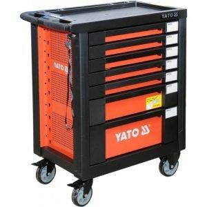 Szafki YATO YT-55290 SZAFKA SERWISOWA NA KÓLKACH + NARZEDZIA 211 CZĘŚCI czesci