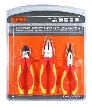 Zestawy EPM E-400-0041 ZESTAW SZCZYPIEC IZOLOWANYCH 3 SZTUKI 160MM CRV 160mm