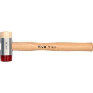 Z Trzonkiem Drewnianym YATO YT-4634 MŁOTEK BLACHARSKI PU/NYLON TRZONEK HIKOROWY 60MM 6,0mm