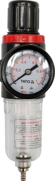 Reduktory YATO YT-2382 REDUKTOR Z FILTREM I MANOMETREM 1/4 filtrem