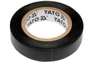 Taśmy Izolacyjne YATO YT-8152 TAŚMA ELEKTROIZOLACYJNA CZARNA 12MMx10M 12mmx10m