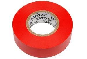 Taśmy Izolacyjne YATO YT-8166 TAŚMA ELEKTROIZOLACYJNA 19MMx20M CZERWONA 19mmx20m,
