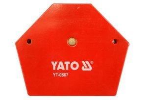Akcesoria YATO YT-0867 SPAWALNICZY KĄTOWNIK MAGNETYCZNY 111x136x24 111x136x24
