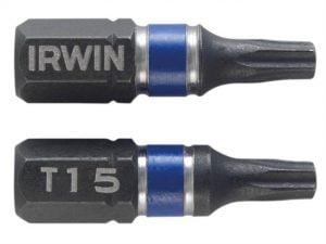 Krótkie IRWIN I-1923330 GROT UDAROWY JEDNOSTRONNY 25MM 2SZT. T20 2,5mm