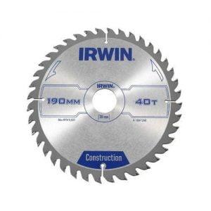 Ze Spiekiem IRWIN I-1897200 PIŁA SPIEKOWA DO DREWNA 190x30MM/40T 190x30mm/40t