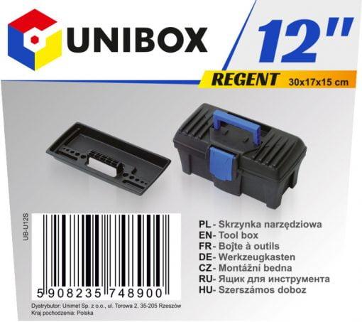 """Narzędziowe UNIBOX UB-U12S SKRZYNKA NARZĘDZIOWA REGENT 12"""" 12"""""""