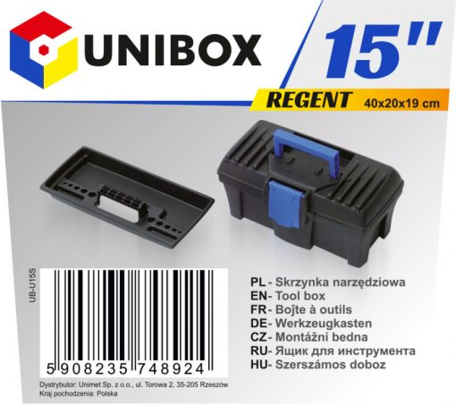 """Narzędziowe UNIBOX UB-U15S SKRZYNKA NARZĘDZIOWA REGENT 15"""" 1,5-"""
