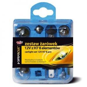 Akcesoria Samochodowe MOJE AUTO 91-014 ZESTAW ŻARÓWEK 12V Z H7 8 ELEM. 91-014