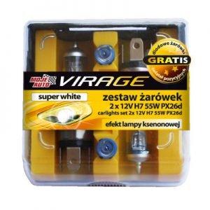 Akcesoria Samochodowe MOJE AUTO 91-015 ZESTAW ŻARÓWEK SUPER WHITE 12V H7 55W 2 SZT. 91-015