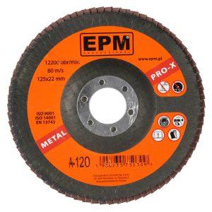 Talerzowe EPM E-552-1004 LAMELKA KORUNDOWA EPM PRO-X GRANULACJA 120 125MM 125mm