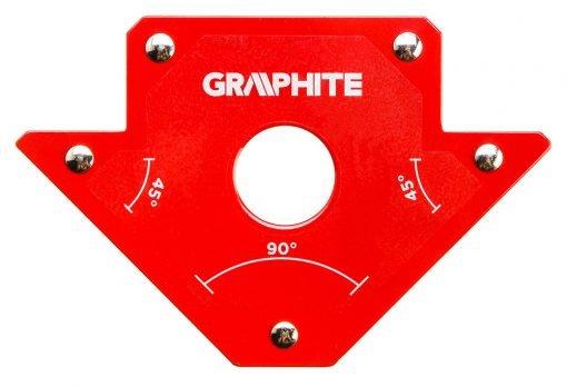 Akcesoria GRAPHITE 56H902 SPAWALNICZY KĄTOWNIK MAGNETYCZNY 102x155x17MM UDŹWIG 22,7KG 102x155x17mm