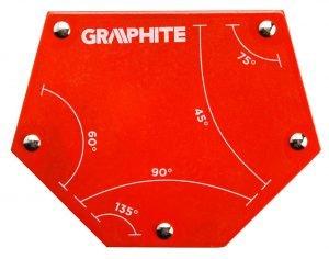 Akcesoria GRAPHITE 56H905 SPAWALNICZY KĄTOWNIK MAGNETYCZNY 111x136x24MM UDŹWIG 34KG 111x136x24mm