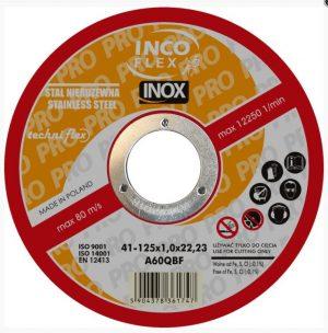 Do Cięcia TECHNIFLEX T1A 125 1.5I TARCZA PŁASKA INOX T1A 125×1.5×22 1.5i