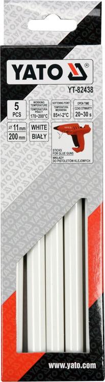 Termiczne YATO YT-82438 WKŁADY KLEJOWE 11,2X200MM 5SZT BIAŁE 11,2x200mm