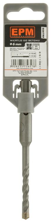 SDS Plus EPM E-511-0411 WIERTŁO SDS+ QUATRO DO BETONU 4×110 4×110