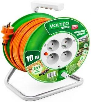 Bębnowe VOLTEO VT-415-1001 PRZEDŁUŻACZ OGRODOWY NA BĘBNIE 10M PRZEWÓD H05VV-F 3x1MM 3x1mm