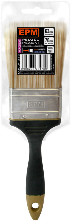 "Angielskie EPM E-300-1234 PĘDZEL ANGIELSKI PŁASKI MAGNAT 76MM 3"" 3."""