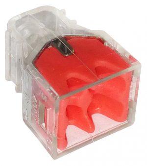 Elmenty Złączne EPM E-650-0240 SZYBKOZŁĄCZKA 4×0,5-2,5MM2 TRANSPARENTNA/CZERWONY 10 SZTUK 4×0,5-2,5mm2