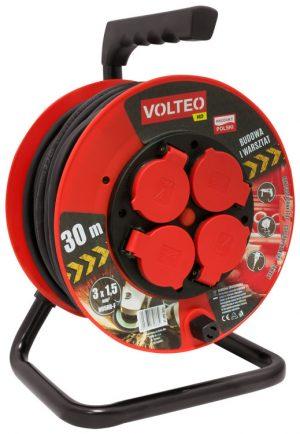 Bębnowe VOLTEO VT-420-3025 PRZEDŁUŻACZ HEAVY DUTY NA BĘBNIE 30M PRZEWÓD H05RR-F 3×2,5MM 3,25mm
