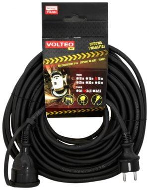 Uniwersalne VOLTEO VT-425-1015 PRZEDŁUŻACZ HEAVY DUTY 10M PRZEWÓD H05RR-F 3×1,5MM 3,15mm