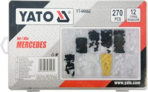Pozostałe YATO YT-06662 KOMPLET SPINEK SAMOCHODOWYCH MERCEDES 270 SZT komplet