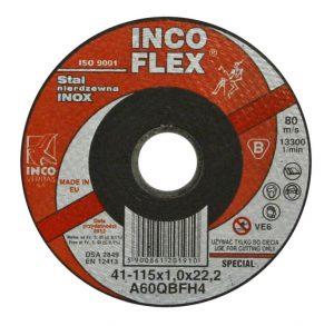 Do Cięcia TECHNIFLEX T1A 115 1 IN TARCZA PŁASKA INOX T1A 115×1.0x22 115×1.0x22