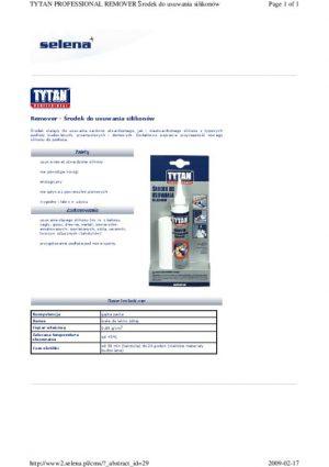 Pozostała TYTAN SIL RE-BI80 REMOVER ŚRODEK DO USUWANIA SILIKONU 80ML 80ml
