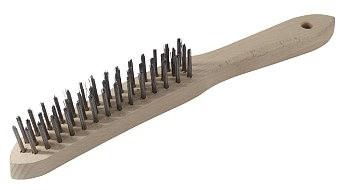 Rączka Drewniana INNY SZ 14 S SZCZOTKA DRUCIANA A120 DRUT STALOWY 4-RZĘDOWA 4-rzĘdowa