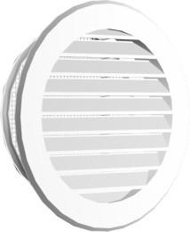 Okrągłe MAXPOL KRA 026 BI KRATKA OKRAGŁA Z SIATKĄ FI150 185MM BIAŁA 18,5mm