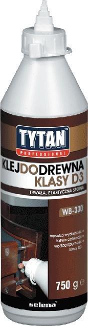 Do Drewna TYTAN KLEJ DR-02D3 KLEJ DO DREWNA TYTAN PROFESSIONAL D3 200G 200g